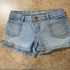 Bleach denim shorts waist 28